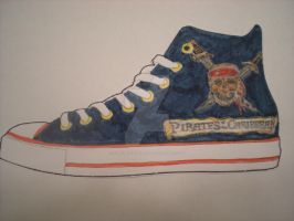 Pirates of the Caribbean Shoe Design by dancingchaos409