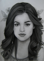 Lucy Hale's Pencil Portrait by Aelini