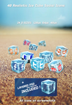 40 Realistic Ice Cube Social Icons by kotulsky