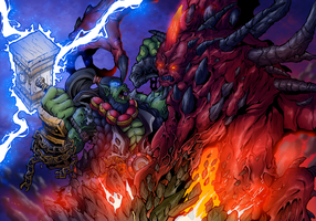 Thrall vs Diablo. by Abylaikhan