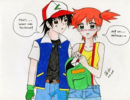 Ash and Misty: Be My Valentine by Kisarasmoon