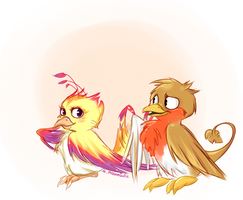oh u lovebirds.. by RobinTea