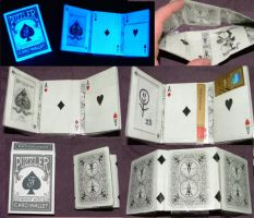 Ghost Playing Card Wallet by puzzlerf