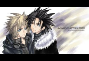 SS-Zack and Cloud by hizuki24