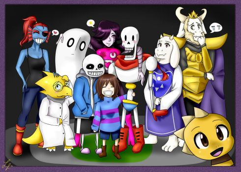 Undertale (group picture) by Elevii