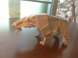 Smilodon (test fold) by Naganeboshni