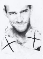 Cm Punk drawing + video by RVOVS