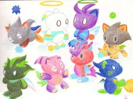 Chao friends by sapphireluna
