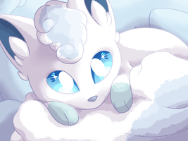 Alolan Vulpix by aquaIights