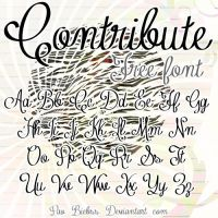 Contribute Font by Pao-Biebss