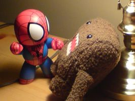 Domo-kun VS. Spider-man by chaoticedge