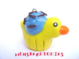 Rubber Ducky Cupcake by monsterkookies