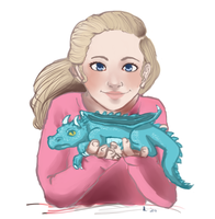 Daphne and her Dragon by Crackinmychassis