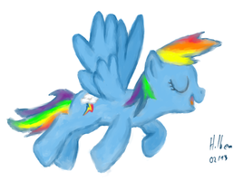 A Quick Rainbow Dash Drawing by caffeinejunkie