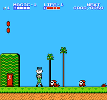 Link Invades Super Mario 2 by crookedcartridge