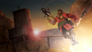 Jumping Soldier and sun [SFM + Gimp] by Wojak1991