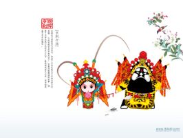 Beijing opera characters by simiker