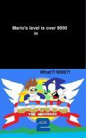 Over 9000 in Sonic 2 XD by elfofcourage