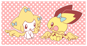 Jirachi and Pichu by Alin-the-Dog