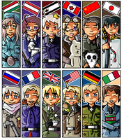 Hetalia Bookmarks by Meeleb2