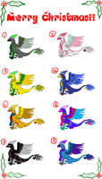 Christmas Adoptables :2011: by Garchompdra