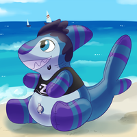 Commission: Pool Toy Sharkbait by Robo-Shark