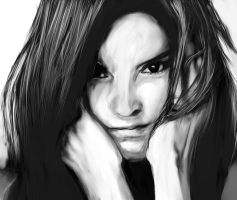 face black and white by cliffbuck