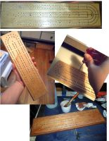 Cribbage Board WIP 1 by kayanah