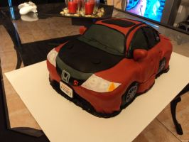 Civic Si Cake by luzglez85