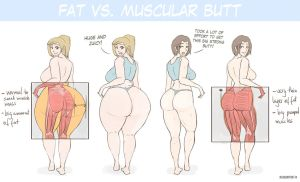 Fat vs Muscular Butt comparison by RasBurton