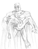 Magneto and Unconscious storm by MichaelPowellArt