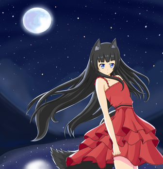 Wolf in the Moonlight by Beef3691