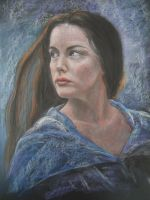 Pastel Pencil Drawing of Arwen by blackblacksea