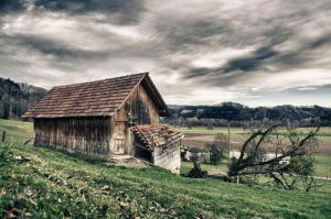 Old Hut Scenery by daenuprobst