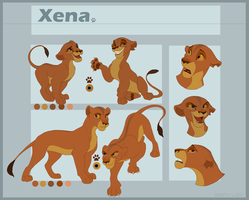 Xena Reference sheet-Commission by Kitchiki
