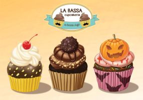 illustration for special cupcakes of October by ElioFinocchiaro