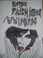uniforms/gothic fashion uni project title page by FoolsGolde