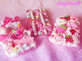 3 Kawaii Decoden Cases by kpossibles