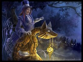 The Lady with the Dog by FataFortuna