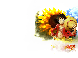 Simple Luffy Wallpaper by Captain-Wiener