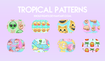 tropical-patterns by xHoldTightx