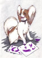 Papillon Painter by KyoteKlaw