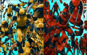 Wolverine and Deadpool Studies by ruddiger