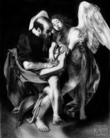 San Mateo y El Angel I Caravaggio by Bara-Rose