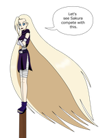 Ino's long tresses by MegatronMan