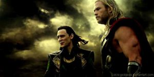 Loki and Thor by Lokis-goddess