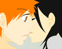 Ichigo and Rukia by JoyousMiloSprinkleXD