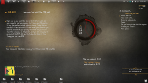My current desktop, July 22. by Veggiable