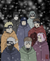 Konoha Winter Group by alice-johnsson
