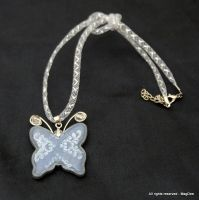 Frosted butterfly pendant by Mag-Dee